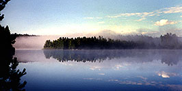 /images/133/1997-08-tema-morning-fog-pano.jpg - 00049: Morning on Rabbit Lake in Temagami, Canada … August 1997 -- Rabbit Lake, Temagami, Ontario.Canada