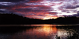 /images/133/1997-08-tema-rab-sunset-pano.jpg - #00052: our first Temagami night at Rabbit Lake … August 1997 -- Rabbit Lake, Temagami, Ontario.Canada