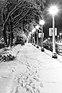 /images/133/1999-02-chicago-bw2.jpg - #00251: snowy night along Michigan Avenue … Feb 1999 -- Chicago, Illinois
