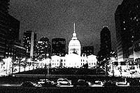 /images/133/1999-02-st-louis-bw3.jpg - #00274: St Louis at night … April 1999 -- St Louis, Missouri