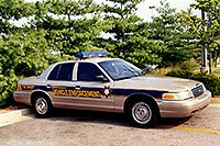 /images/133/1999-07-kentucky-police1.jpg - #00332: Kentucky Vehicle Enforcement police car in Lousville … July 1999 -- Louisville, Kentucky