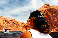 /images/133/1999-08-lake-powell-chris-boat1.jpg - #00342: Christina … views from the boat at Lake Powell … August 1999 -- Lake Powell, Utah