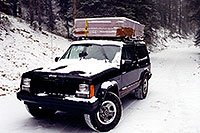 /images/133/1999-09-indep-jeep-snow1.jpg - #00381: moving from Chicago to Phoenix … camping near Independence Pass … Sept 1999 -- Independence Pass, Colorado