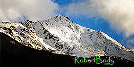 /images/133/1999-09-indep-white-peak-pano.jpg - #00392: peak over Independence Pass … Sept 1999 -- Independence Pass, Colorado