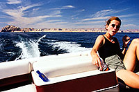 /images/133/1999-09-lake-powell-eva2.jpg - #00399: Eva at Lake Powell … Sept 1999 -- Lake Powell, Utah