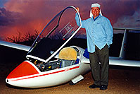 /images/133/2000-02-glider-crown-king.jpg - #00467: Crash landing 17 miles off course … by Crown King … Feb 2000 -- Bumble Bee, Arizona