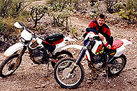 /images/133/2000-03-kurt-dirt-bikes2.jpg - #00470: Dirtbikes with Kurt by Apache Junction … March 2000 -- Apache Junction, Arizona