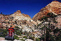 /images/133/2000-04-greater-zion-peak-g.jpg - #00467: Backpacking with Rakesh … April 2000 -- Greater Zion Wilderness, Utah