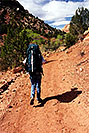 /images/133/2000-04-greater-zion-trail2-v.jpg - #00472: Backpacking with Rakesh … April 2000 -- Greater Zion Wilderness, Utah