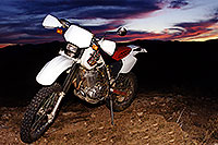 /images/133/2000-04-xr-bumble-bee.jpg - #00483: my Honda XR400 near Crown King … April 2000 -- Bumble Bee, Arizona