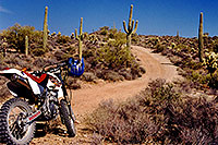 /images/133/2000-04-xr-tangerine1.jpg - #00490: my Honda XR400 … near Tangerine Road by Tucson … April 2000 -- Tucson, Arizona