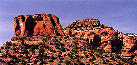 /images/133/2000-07-sedona-hole-rock.jpg - #00506: Dogie Trail in Sycamore canyon … July 2000 -- Sycamore Canyon, Sedona, Arizona