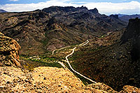 /images/133/2000-07-supersti-from-above.jpg - #00509: midday at Superstition Mountains … July 2000 -- Apache Trail Road #2, Superstitions, Arizona