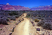 /images/133/2000-08-grand-to-plateau.jpg - #00556: Bright Angel Plateau trail heading to the lookout in Grand Canyon … July 2000 -- Bright Angel Plateau Point, Grand Canyon, Arizona