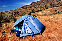 /images/133/2000-08-sedona-camp-tent.jpg - #00578: camping in Sedona … usually without tent ;-) … August 2000 -- Sedona, Arizona