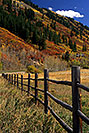 /images/133/2000-09-aspen-fence-v.jpg - #00619: just outside of Aspen … Sept 2000 -- Aspen, Colorado
