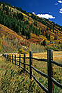/images/133/2000-09-aspen-fence.jpg - #00626: just outside of Aspen … Sept 2000 -- Aspen, Colorado