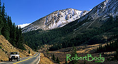 /images/133/2000-09-colo-indep-pano.jpg - #00644: white Jeep Wrangler returning from Independence Pass to Aspen … Sept 2000 -- Independence Pass, Colorado