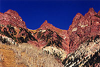 /images/133/2000-09-maroon-bells-side.jpg - #00658: view North of Maroon Bells … Sept 2000 -- Maroon Bells, Colorado