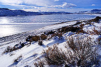 /images/133/2000-12-phx-tor-gunn-lk3.jpg - #00722: lake by Gunnison … Phoenix-Toronto 3,500 mile snow-camping trip … Dec 2000 -- Morrow Point Reservoir, Gunnison, Colorado