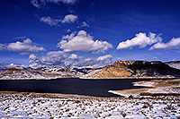 /images/133/2000-12-phx-tor-gunn-lk4.jpg - #00723: lake by Gunnison … Phoenix-Toronto 3,500 mile snow-camping trip … Dec 2000 -- Morrow Point Reservoir, Gunnison, Colorado