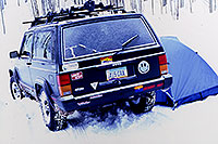 /images/133/2000-12-phx-tor-jeep-tent.jpg - 00733: +6 F morning followed by -6 F morning … Phoenix-Toronto 3,500 mile snow-camping trip … Dec 2000 -- Aspen, Colorado