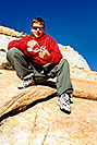 /images/133/2001-01-peter-zion-v.jpg - #00753: Peter in Zion National Park… Jan 2001 -- Zion, Utah