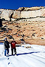 /images/133/2001-01-zion-snow-peter-neon-v.jpg - #00759: Neon & Peter in Zion National Park… Jan 2001 -- Zion, Utah