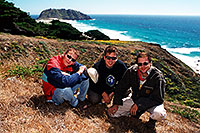 /images/133/2001-07-cali-bigsur-us3.jpg - #00803: Our team in Big Sur … July 2001 -- Big Sur, California