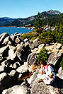 /images/133/2001-07-cali-tahoe-me-rock-v.jpg - #00805: Lake Tahoe … July 2001 -- Lake Tahoe, California
