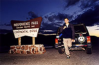 /images/133/2001-07-indep-martin-jeep.jpg - #00829: Martin at Independence Pass … July 2001 -- Independence Pass, Colorado