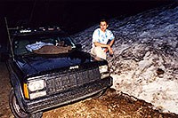 /images/133/2001-07-independence-snow.jpg - 00812: snow at 11,500ft by Independence Pass … July 2001 -- Independence Pass, Colorado