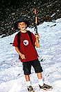 /images/133/2001-07-leadville-kyle-snow-v.jpg - #00830: Kyle … hiking to 12,500ft … July 2001 -- Chalk Mountain, Leadville, Colorado