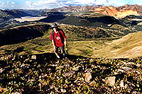 /images/133/2001-07-leadville-kyle-top.jpg - #00831: Kyle … almost at 12,500ft top … July 2001 -- Chalk Mountain, Leadville, Colorado
