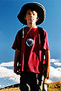 /images/133/2001-07-leadville-kyle1-v.jpg - #00824: Kyle … hiking to 12,500ft … July 2001 -- Chalk Mountain, Leadville, Colorado