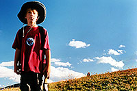 /images/133/2001-07-leadville-kyle2.jpg - #00826: Kyle … hiking to 12,500ft … July 2001 -- Chalk Mountain, Leadville, Colorado