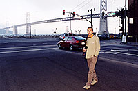 /images/133/2001-07-martin-sf-bridge2.jpg - #00842: Martin in San Francisco, in front of the Golden Gate Bridge … July 2001 -- San Francisco, California