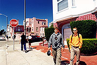 /images/133/2001-07-sfrisco-street-p-m.jpg - #00858: Peter and Martin in San Francisco … July 2001 -- San Francisco, California