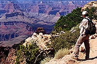 /images/133/2001-08-grand-canyon1.jpg - #00869: View along South Kaibab Trail … August 2001 -- South Kaibab Trail, Grand Canyon, Arizona