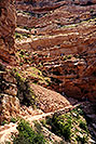 /images/133/2001-08-grand-kaibab3-v.jpg - #00874: People along the top switchbacks of South Kaibab Trail … August 2001 -- South Kaibab Trail, Grand Canyon, Arizona