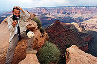 /images/133/2001-08-grand-martin-hair.jpg - #00876: Martin at Ooh-Aah Point (actual name) at South Kaibab trail  … August 2001 -- South Kaibab Trail, Grand Canyon, Arizona