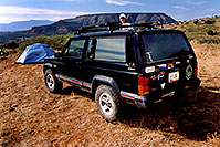 /images/133/2001-11-jeep-leah-tent.jpg - #00909: camping in Sedona … Nov 2001 -- Sedona, Arizona