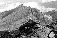 /images/133/2002-08-lomnicky-stit-bw6.jpg - #01071: views from top of Lomnicky Stit … August 2002 -- Lomnicky Stit, Vysoke Tatry, Slovakia