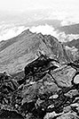 /images/133/2002-08-lomnicky-vert-bw4-v.jpg - #01080: views from top of Lomnicky Stit … August 2002 -- Lomnicky Stit, Vysoke Tatry, Slovakia