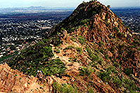 /images/133/2003-03-camelback-face2-1.jpg - #01125: view from Camelback Mountain towards second peak … March 2003 -- Camelback Mountain, Phoenix, Arizona