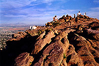 /images/133/2003-03-camelback-top1.jpg - #01127: top of Camelback Mountain … March 2003 -- Camelback Mountain, Phoenix, Arizona