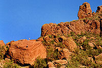 /images/133/2003-03-camelback-trail2.jpg - #01130: there is an easier way up Camelback Mountain … March 2003 -- Camelback Mountain, Phoenix, Arizona