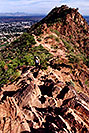 /images/133/2003-03-camelback-trail6-v.jpg - #01134: view from Camelback Mountain towards second peak … March 2003 -- Camelback Mountain, Phoenix, Arizona