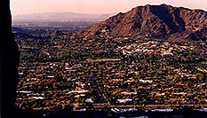 /images/133/2003-03-camelback-trail7.jpg - #01135: view of Phoenix from Camelback Mountain … March 2003 -- Camelback Mountain, Phoenix, Arizona