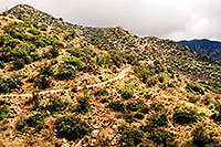 /images/133/2003-03-reavis-cycle-2.jpg - #01153: wet Reavis Ranch Trail in Superstition Mountains … March 2003 -- Superstitions, Arizona